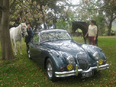 Colin Brown's 1958<br>Jaguar XK150